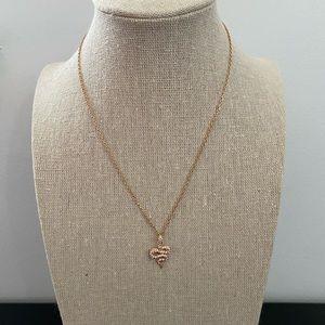 Swarovski Rose Gold Snake Necklace